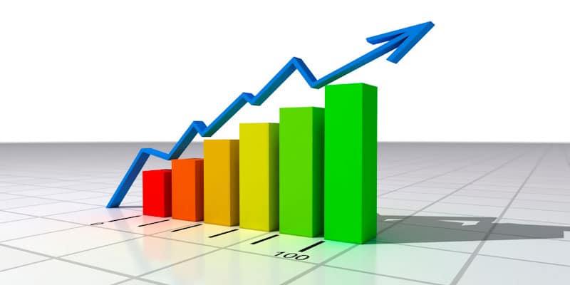 Gráfico en crecimiento
